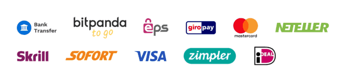Payment providers on Bitpanda